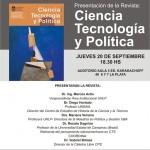 Presentación Revista CTyP este jueves 20/9 a las 18.30