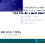 Discutimos el canon eurocéntrico en la enseñanza