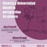 Charla-debate: Ciencia y universidad desde la perspectiva de género