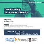 """Charla abierta: """"La crisis mundial y los desafíos de la Argentina"""""""