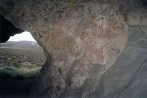 Motivos pintados en Cueva del Círculo, Las Mercedes (Santa Cruz)